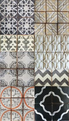 A beautiful selection of Moroccan Tiles from Tabarka - Life's Little Jems. Handmade tiles always enhance a space and make a home feel warm and welcoming. Tile Patterns, Textures Patterns, Pretty Patterns, Vintage Patterns, Tile Design, Layout Design, Tabarka Tile, Moroccan Tiles, Moroccan Kitchen
