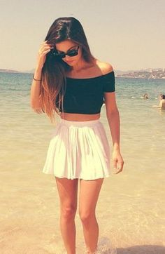 #summer #fashion / crop top