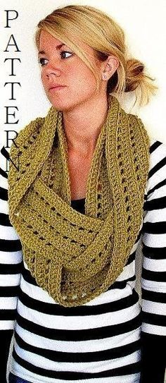 Crochet pattern.  Purchase from Etsy.com: http://www.etsy.com/listing/97970804/circle-scarf-pattern-permission-to-sell?ref=related-0