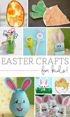 Easter Crafts for Kids! So many fun and inexpensive craft ideas for kids!