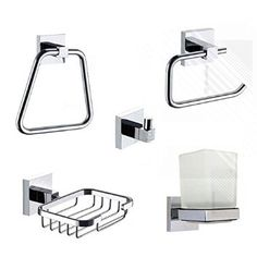 Arian 'Essenza' Bathroom Accessory Kit- The Premium Essential Bathroom Accessory Set: Amazon.co.uk - £35.99
