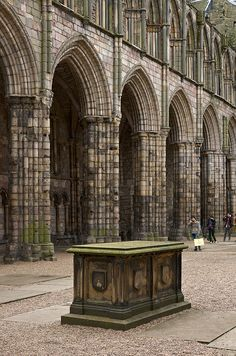 The ruins of Holyrood Abbey in Edinburgh, Scotland. •❤