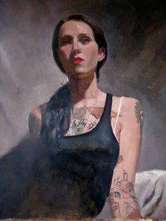 "Saatchi Online Artist: Michael Foulkrod; Oil, 2013, Painting ""cheyenne"""