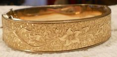 Vintage Dunn Brothers Gold Filled Floral by ViksVintageJewelry, $75.00