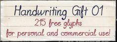 """""""Handwriting gift 01"""" font - CU"""