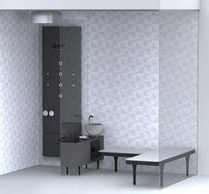 London studio Doshi Levien have designed this domestic spa for Italian brand Glass Idromassaggio.