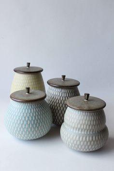 Various lidded jars with lids | Flickr (****Mayumi Yamashita)