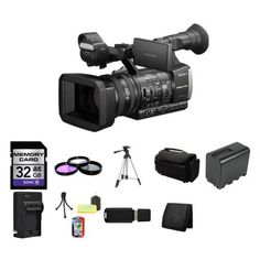 Amazon.com : Sony HXR-NX3 NXCAM Professional Handheld Camcorder HXRNX3 Bundle 1 : Camera & Photo