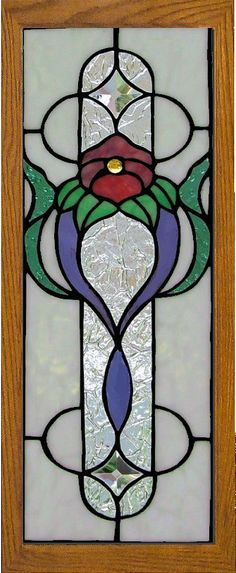 stained glass cabinet insert by AGlassMenagerie.net