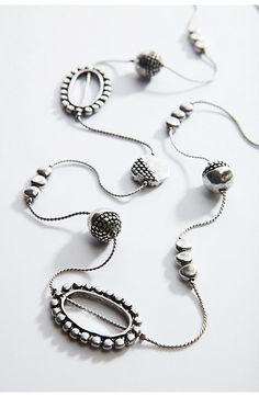 antiqued-metal station necklace