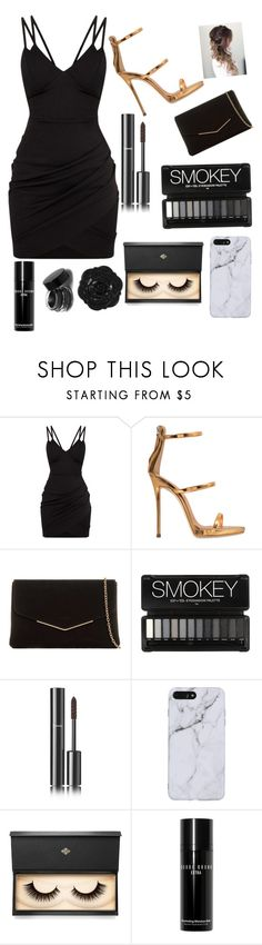 """""""little black dress🖤"""" by addisoncassel ❤ liked on Polyvore featuring Giuseppe Zanotti, KoKo Couture, Chanel, Lash Star Beauty, Swissco and Bobbi Brown Cosmetics"""