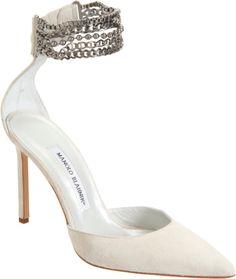 Shop Women's Manolo Blahnik Sandal heels on Lyst. Track over 3924 Manolo Blahnik Sandal heels for stock and sale updates. Manolo Blahnik Schuhe, Manolo Blahnik Sandals, High Hill Shoes, Beautiful High Heels, Beautiful Things, Club Shoes, Evening Shoes, Wedding Shoes, Wedding Dress