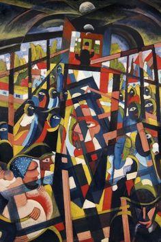 Scheiber Hugó: Villamoson (forrás: Kieselbach Galéria)