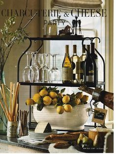 Beautiful Entertaining ❤ Wine and Cheese Party Table