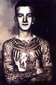 Bob Shaw by Bert Grimm  Bert had alittle photo both next to his tattoo shop. Bob Shaw was also a tattoo artist