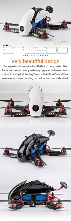 Meet the drone from future Storm Racing Drone SRD280 V3 - Ready to Fly Edition  The SRD280 V2 is the unique one, just look at it, it's ABSOLUTLY beautiful, it's more like a display for your desk than a racing drone.