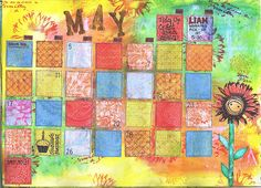 journal / calendar page, great warm colours