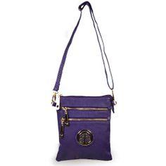 Purple designer inspired crossbody bag - $39