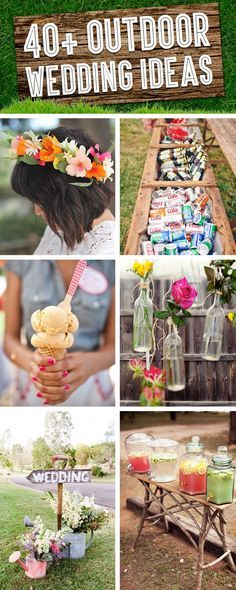 Here are TONS of ideas for your outdoor wedding! #OutdoorWedding #Bride #Wedding