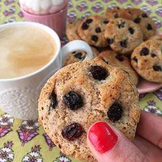 Cookies SIN GLUTEN de almendras y pasas