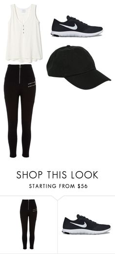 """whateves"" by gianawilliams on Polyvore featuring River Island, NIKE and Hot Topic"