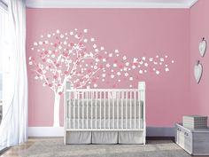 Cherry blossom tree wall decals baby nursery by DecalsArtStudio