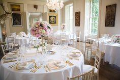 Elegant Pink, White & Gold Wedding at Aynhoe Park, Oxfordshire | Suzanne Neville Belle Gown | Sophia Webster Shoes | Rosewater Twobirds Bridesmaid Dresses | Lucy Davenport Photography