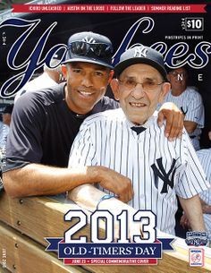 Legendary.... Yogi Berra, Mariano Rivera. Yogi Berra and Whitey Ford...last two introduced June 23,2013 Old-Timers Day