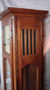 Custom Made Mission Style Grandfather Clock Craftsman Clocks, Craftsman Furniture, Modern Craftsman, Craftsman Style, Custom Furniture, Craftsman Homes, Furniture Styles, Bedroom Furniture, Woodworking Blueprints
