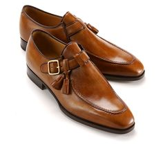 Handmade tan leather shoes, single monk strap shoe, leather shoes for men, dress Loafer Shoes, Men's Shoes, Shoe Boots, Dress Shoes, Loafers, Shoes Men, Ankle Shoes, Dress Clothes, Mens Fashion Shoes