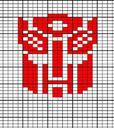 Creative Ramblings: Transformers Hat with Charted Autobot Symbol