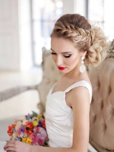 wedding hairstyles for curly long hair