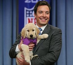 Jimmy Fallon and a puppy, what's not to love.