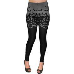 9433265faa Inked Boutique - Too Fast Apparel Fly Me To The Moon Bats High Waist  Leggings Goth