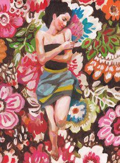 Folk art peinture ORIGINAL nature morte pommes et par tushtush Rimma