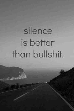 Silence is golden hahaha