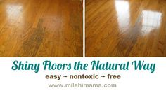 how to make wood floors shine without wax