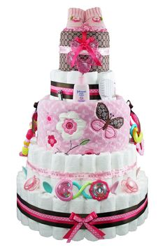 Rattle Diaper Cake - notes on what diaper cakes entails!