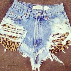 #Denim #Ripped #Shorts Save this image and add it to your closet! http://wishi.me