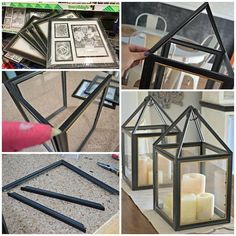 DIY Dollar Tree Picture Frame Lantern You may not be a fan of dollar store pictu. store Crafts picture frames DIY Dollar Tree Picture Frame Lantern You may not be a fan of dollar store pictu… Pot Mason Diy, Mason Jar Crafts, Diy Décoration, Easy Diy, Fun Diy, Simple Diy, Do It Yourself Decoration, Diy Casa, Navidad Diy