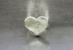 Large Rough Pale Mint Green Hiddenite Heart by NangijalaJewelry