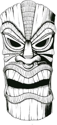 Could do tikis for a symmetry lesson Tiki Drawings Illustration Tiki Tattoo, Tiki Maske, Graffiti, Tiki Head, Dibujos Tattoo, Tiki Totem, Tiki Art, Tiki Tiki, Arte Tribal