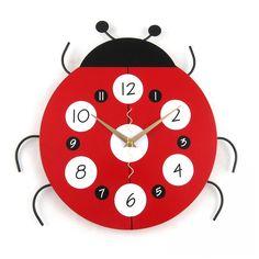 relogio de parede colorido ladybug- Pesquisa Google