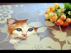 Como pintar un Gato - Individual para mesa - Esmaltes Acrilicos - Ana Gjurinovich - YouTube