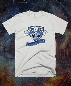 Pastafarian Universität t Shirt - FSM Shirt, The Flying Spaghetti Monster, säkularen College t-shirt, Unisex, Jugend, 100 % Baumwolle/Triblend