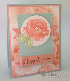 Stippled Blossoms Stamp Set featuring Core'dination Paper #happybirthday #handstamped #stampinup www.stampstodiefor.com