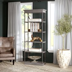 Greyleigh Poynor Etagere Bookcase & Reviews | Wayfair Cube Bookcase, Etagere Bookcase, Ladder Bookcase, Bookcases, Solid Wood Desk, Selling Furniture, Hooker Furniture, Decorative Storage, Cube Storage