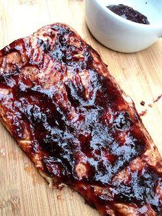 Blueberry BBQ salmon