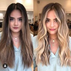 Summer girls dyed what color hair looks good? 6 advanced hair color recommended – Page 3 – Hairstyle Wavy Hair, Dyed Hair, Blonde Hair Looks, Advanced Hair, Hair Color Balayage, Brown To Blonde Balayage, Brunette Blonde Highlights, Warm Blonde, Blonde Color