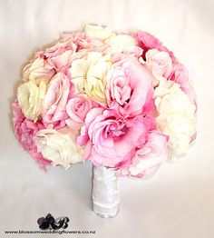 bridal-bouquet-pink-white by Blossom Wedding Flowers, via Flickr